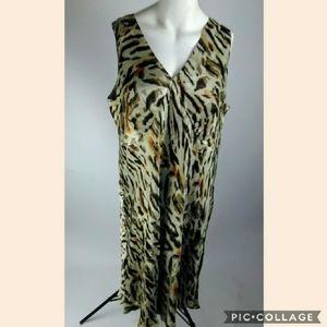 Lane bryant animal print sleeveless dress size 28